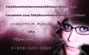 My New Business Cards - Side 2 by VelmaGiggleWink