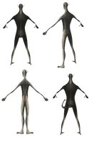 Surreal PaperMen png by mysticmorning