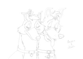 ADGTH - Rocket and Jewel - sketch by MortenEng21