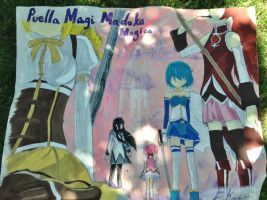 Madoka Window Painting by xandir1lover
