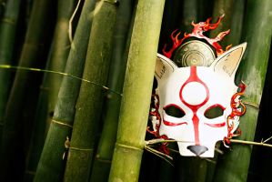 Okami, Ameterasu Leather Mask by b3designsllc