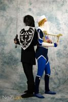 Dark Link and Sheik by IreneMarleenAyuma