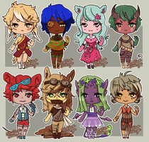 Open: Chibi adoptables {1/8} by Stuffed-orange