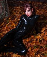 Latex straitjacket catsuit by Miss-ecchi