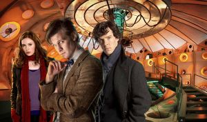 Doctor Who And Sherlock WP by drawingdream
