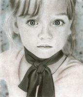 A girl with a ribbon by Eileen9