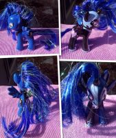 Princess Luna/Nightmare Moon OOAK custom pony by DjPon33
