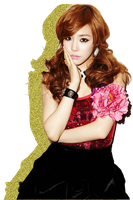 SNSD TTS Tiffany Glitter Silhouette Edit PNG 03 by xElaine