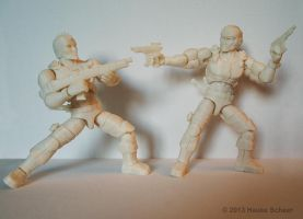 3D printed action figures fight B by hauke3000