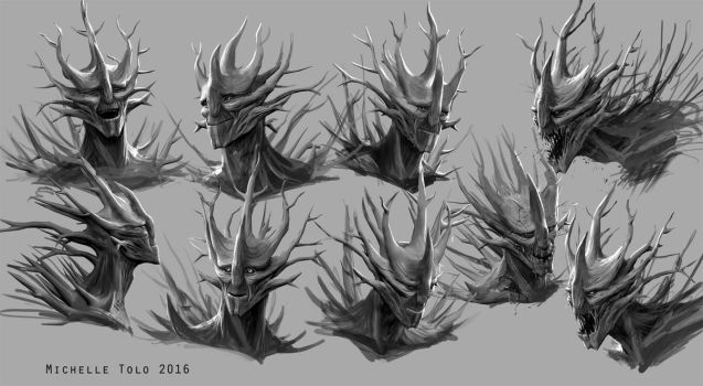 Forest Guardian project: Halarif expressions by Manweri