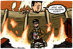 Comics In 5 Panels W2 and Eyz talk Attack on Titan by theEyZmaster