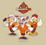 Mascot design for Shawarmaize by SOSFactory