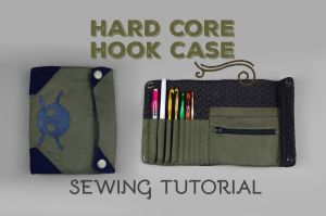 Sewing Tutorial - Hard Core (Crochet) Hook Case by SewDesuNe