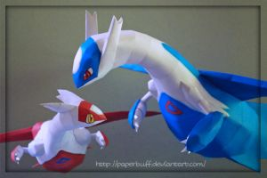 Latios and Latias Papercraft