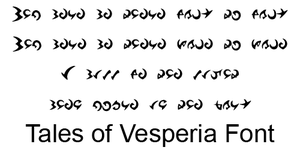 Vesperia font by Cherry-Chain