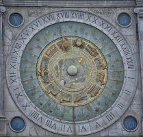 Astrological Clock Face. Padova. Italy. 2 by jennystokes