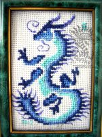 Cross stitched dragon by Drerika