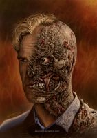 2 face - Harvey Dent by aaronwty
