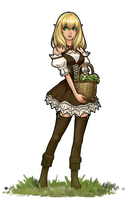 Flower Basket Elf by RoninDude