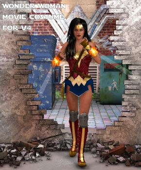 Wonder Woman movie costume for V4 by Terrymcg