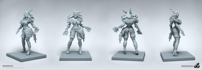 Pin Up Huntress Miniature by HecM