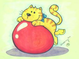 Cat in a ball by Frog-FrogBR