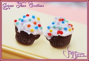 Birthday Cupcakes - Studs by Jeyam-PClay