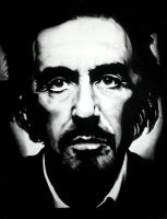 Al Pacino Charcoal Drawing by BDCurran