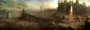 Concept art landscape by james-olley