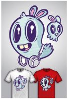 Cute Monster Tee Design 1 by cronobreaker