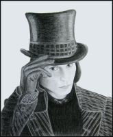 Willy Wonka Portrait by saddiamonds