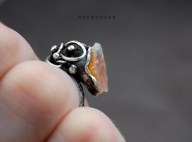 Ring silver sterling with opal by honeypunk