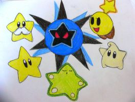 Some Mario Stars by Rotommowtom