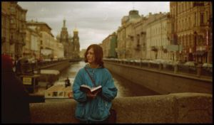Nevsky prospekt - girl in blue by johnny-muffin