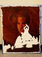 Torchwood Painting in progress by Jacksparrowsbabe