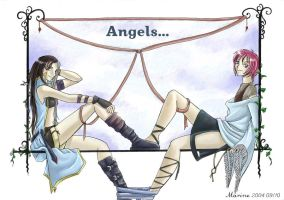 Angels - Miundel and Shuichi by Mahogany-Fay