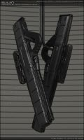 SUIJIN - Concept of sci fi pulse rifle - secondary by peterku