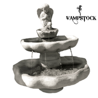 Angel Fountain PNG Vampstock by VAMPSTOCK
