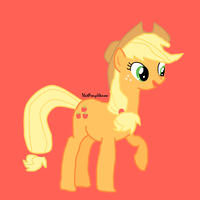 Applejack drawn by me by ThatPonyUknow