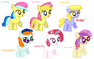 ~MLP~ Shipping Adopts 2-BACKGROUND PONIES EDITION by XxDrewpuff11xX
