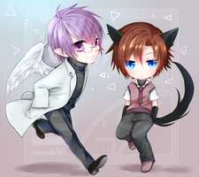 [Commission] lavender-ice - Chibi by Teirads