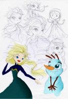 all FROZEN + Tablet Colouring by Charming-Manatee