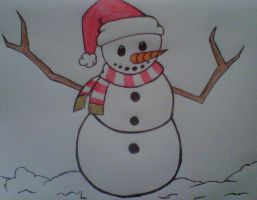snowman christmas card by crochetamommy
