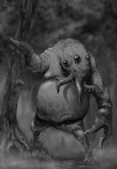 Cthulhoid WIP CRITIQUE PLEASE! by JohnMBlaz
