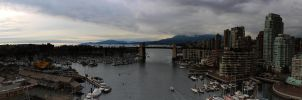 Cambie Bridge Panorama 02 by insomniac199