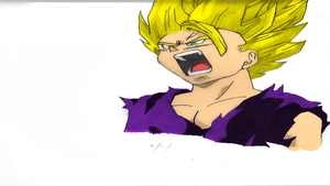 SSJ2 Teen Gohan Colored by inzanity-arts