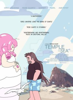 Temple By The Sea Movie Poster Design by Slothgirlart