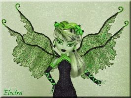 Electra-Custom MH Frankie Stein Gothic Diva Fairy by KrisKreations