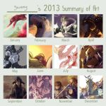 2013 summary of art by Garmmon