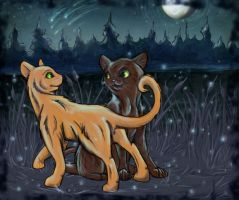 Brambleclaw and Squirrelflight by sharkie19